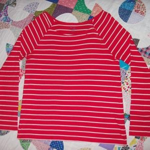 GAP Super Soft red/white striped long sleeve XL